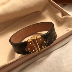 LV Nano Monogram leather bracelet